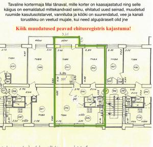 korteri muudatuste plaan 1 300x287 - 5 kõige sagedasemat puudust dokumentides, mis pärsivad kinnisvara müüki!
